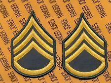 US Army Enlisted E-6 SSG Staff Sergeant Class A uniform patch set m/e