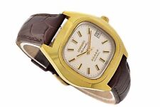 Vintage Longines Admiral L633.2 Gold Plated Automatic Mens Midsize Watch 1165