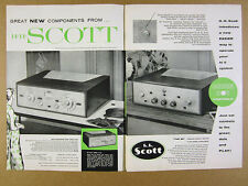 1956 HH SCOTT 99 Amplifier Tuners Preamps Turntable Components vintage print Ad