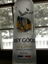 GREY GOOSE VODKA empty bottle with stopper cork Citron 200ml imported France