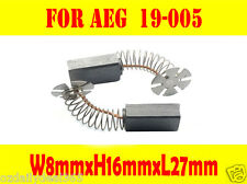 Carbon Brushes For AEG 19-005 WS200S WSC2300S WSCD2300S WSD2300S Angle Grinder