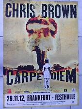CHRIS BROWN    2012   ORIGINAL CONCERT-KONZERT-POSTER  84 x 60 cm