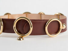 New Moschino Redwall Light Brown leather Belt Size 40