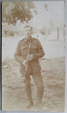 Vintage c1900 B/W Photograph. Clarinet Player. Military Bandsman. 15th Hussars?