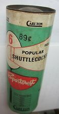 Carlton Sportcraft Popular Shuttlecocks Vintage Can Made In England Badminton