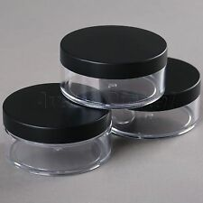 50g Plastic Empty Cosmetic Container Loose Powder Jar Powder Puff Boxes Travel