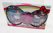 NEW Hello Kitty Supercute Over 50 Pieces Mini Stationery Set