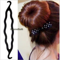 5Pcs Fashion Magic Hair Twist Styling Clip Stick Bun Maker Braid Tool