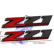"2x OEM 10"" Big Z71 OFF ROAD Emblem badges 3D Silverado Ford 2500HD F Black Red"
