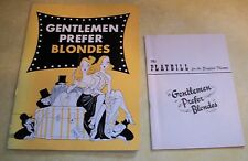 1951 GENTLEMEN PREFER BLONDES PAPER PLAYBILL ZIEGFELD THEATER SHOW BROADWAY PLAY