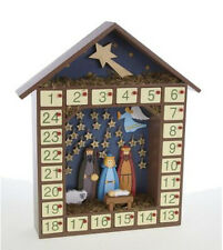 Heaven Sends Nativity Advent Calendar - Traditional Free standing Wooden Advent