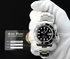 NEW ROLEX-2017 NEVER WORN Stainless SUBMARINER Black CERAMIC-116610 SANT BLANC