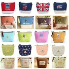 Women's Key Coin Holder Case Small Canvas Purse Bag Lady's Zip Wallet UK