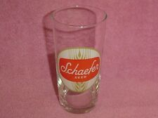 Collectible Vintage Clear Glass Schaefer Beer Glass
