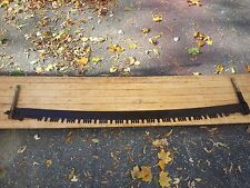 """GREAT Old Crosscut Saw Tool 60"""" Long Blade"""