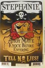STEPHANIE Pirate Privacy Door Sign/Ahoy Mate/Knock Before Entering/Tell No Lies!