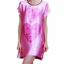 New Women Pajamas Set Sleepwear Nightgown Lounge Sleeve Satin Top Long Lingerie