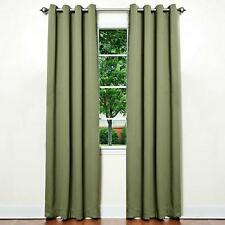 Solid Grommet Top Thermal Insulated Blackout Window Curtain 2 Set Panels, 52x84
