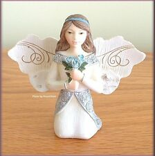 """MARCH MONTHLY ANGEL FIGURINE 3"""" HIGH BY PAVILION ELEMENTS FREE U.S. SHIPPING"""