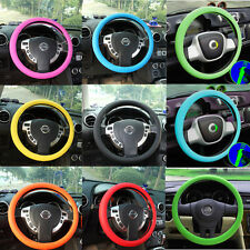 Leather Texture Car Auto Silicone Steering Wheel Glove Cover Skidproof Soft HOT
