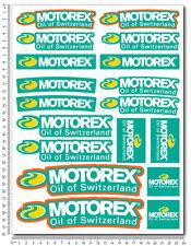 Motorex sponsors kit aufkleber set 24x32cm blatt 18 sticker suzuki ktm honda