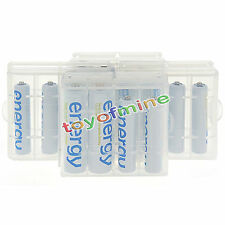 8x AA 3300mAh + 8x AAA 2000mAh Ni-Mh Energy Rechargeable Battery Cell+4x case