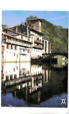 BF14347 saint jean pied de port le pont dur la nive et l france front/back image