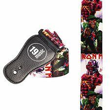 Iron Maiden EDDIE war band rock 80s logo Guitar strap 3019