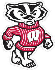 Wisconsin Badgers Durable Decal Bucky Scratch Fade Resistant.Dishwasher