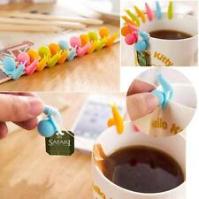 2X Novelty Snail Shape Silicone Tea Bag Holder Cup Mug Candy Colors Set Lots