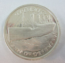 .999 Proof Silver Titanic Ship of Dreams 1oz Silver Round