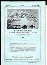 La Nature N° 2074 -  Fév.1913  - Revue des sciences - Croissance du Bananier
