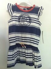 Ralph Lauren Infant Girls Dress Nautical Stripe Blue/White Bloomers Size 12M NWT