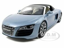 AUDI R8 V10 5.2FSi QUATTRO SPYDER BLUE 1/18 DIECAST MODEL CAR BY KYOSHO 09217