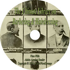 35 RARE Books Ultimate Library on Barbering & Hairdressing CD Barber Shave Hair