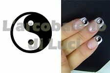 20 AUTOCOLLANTS ONGLES YIN ET YANG SYMBOLE CHINOIS NAILS ART STICKERS MANUCURE