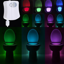 LED WC Toilette Licht Motion Activated Seat Sensor Nachtlicht Badezimmer Lampe