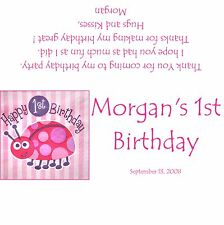 Lady Bug Baby's 1st Birthday Candy Bar Wrappers/Birthday Party Favors