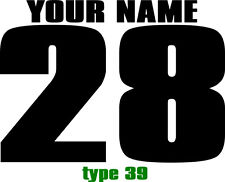 CUSTOM NAMED RACING MX NUMBER PLATE DECALS MOTOCROSS STICKERS ATV BMX