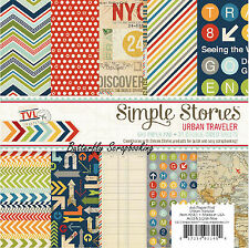 Urban Travel Collection Scrapbooking 6x6 Paper Pad Simple Stories 24 Pages NEW