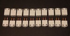 LOT OF 10 OMEGA CERAMIC CONNECTOR SETS MALE & FEMALE