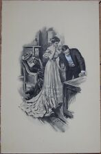 Will Grefe/Artist-Signed 1907 Print: Couple After a Dinner Party, Late Evening