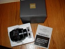 Voigtlander 90mm APO-LANTHAR F3.5 SL II close focus lens Pentax Mount
