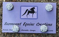 Horse Show Number Magnets - Silver Resin Gem - Saddleseat, Hunt Seat, Western