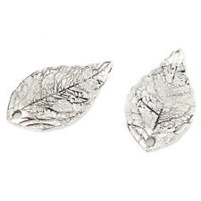 50x Wholesale Antique Silver Alloy Leaf Charms Pendants Findings Decor Crafts C