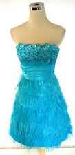 MASQUERADE Dark Blue Prom Dance Party Dress 7 -$160 NWT
