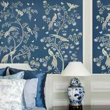 Chinoiserie Birds and Roses Wall Mural Stencil - Stencils for DIY Home Decor