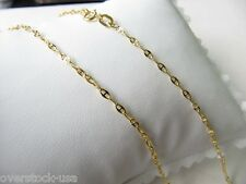CHARMING 17.7INCH Solid 18K Yellow Gold Necklace 2mm Anchor link Chain