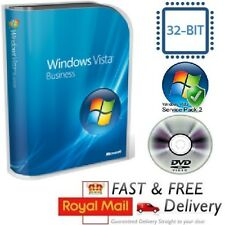 Windows Vista Home Basic 32-bit SP1 Full Version & License COA Product Key DVD