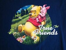 Winnie the Pooh & Piglet: True Friends Cute Cartoon Walt Disney World T Shirt S